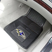 FANMATS Baltimore Ravens 2-Piece Heavy Duty Vinyl Car Mat Set