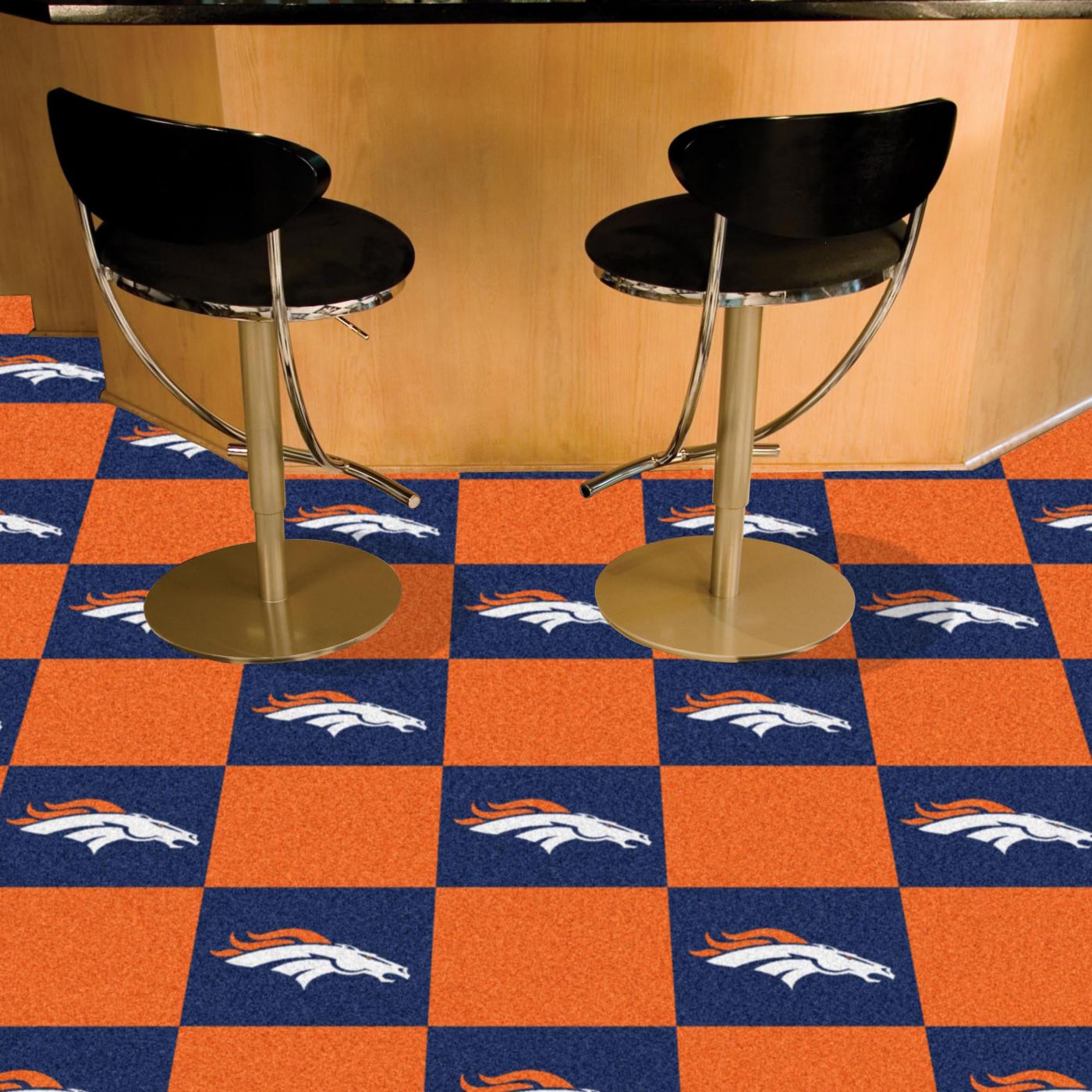 FANMATS Denver Broncos Team Carpet Tiles