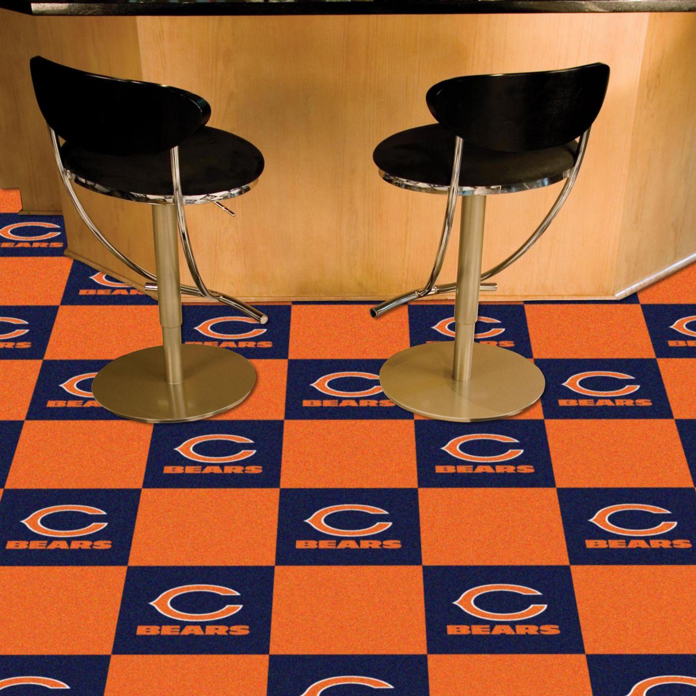FANMATS Chicago Bears Team Carpet Tiles