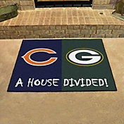 FANMATS Chicago Bears-Green Bay Packers House Divided Mat