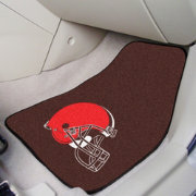 FANMATS Cleveland Browns 2-Piece Printed Carpet Car Mat Set