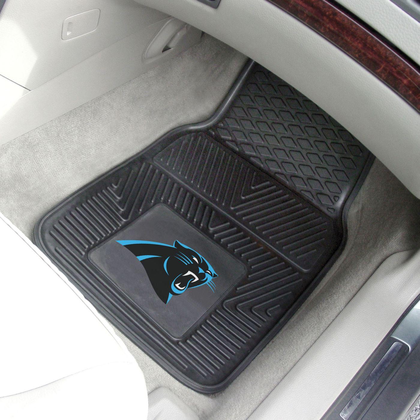 Carolina Panthers 2-Piece Heavy Duty Vinyl Car Mat Set