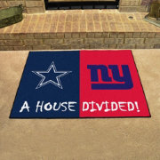 FANMATS Dallas Cowboys-New York Giants House Divided Mat
