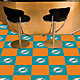FANMATS Miami Dolphins Team Carpet Tiles