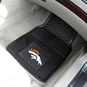 Denver Broncos 2-Piece Heavy Duty Vinyl Car Mat Set