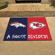 FANMATS Denver Broncos-Kansas City Chiefs House Divided Mat