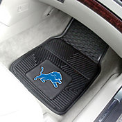FANMATS Detroit Lions 2-Piece Heavy Duty Vinyl Car Mat Set