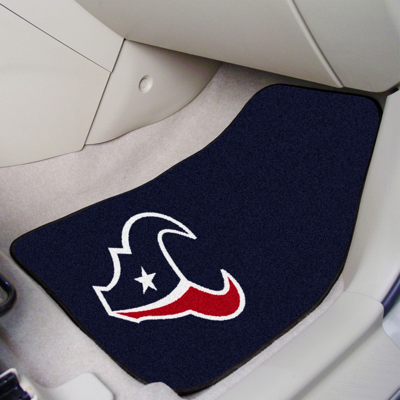 Houston Texans 2-Piece Printed Carpet Car Mat Set