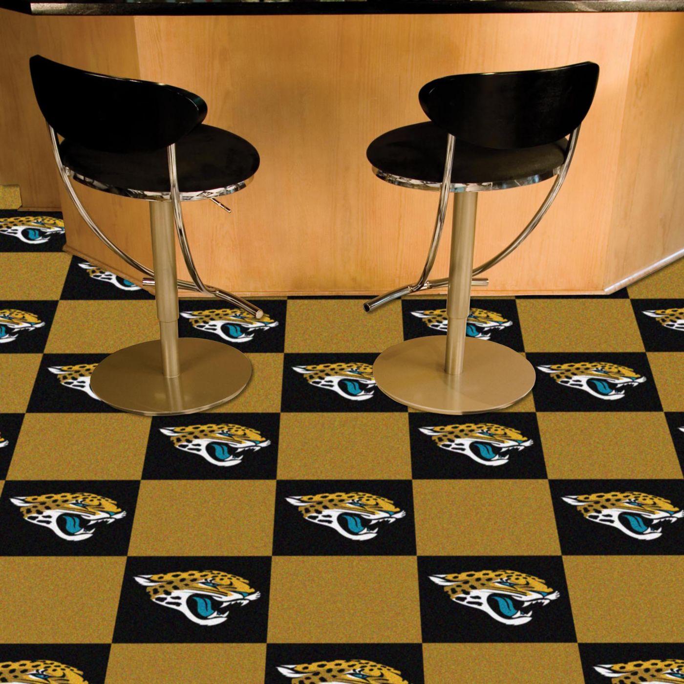 FANMATS Jacksonville Jaguars Team Carpet Tiles