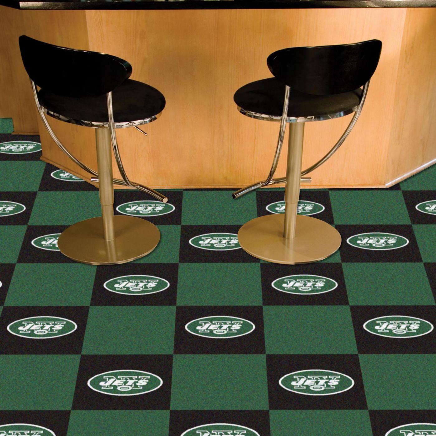 FANMATS New York Jets Team Carpet Tiles