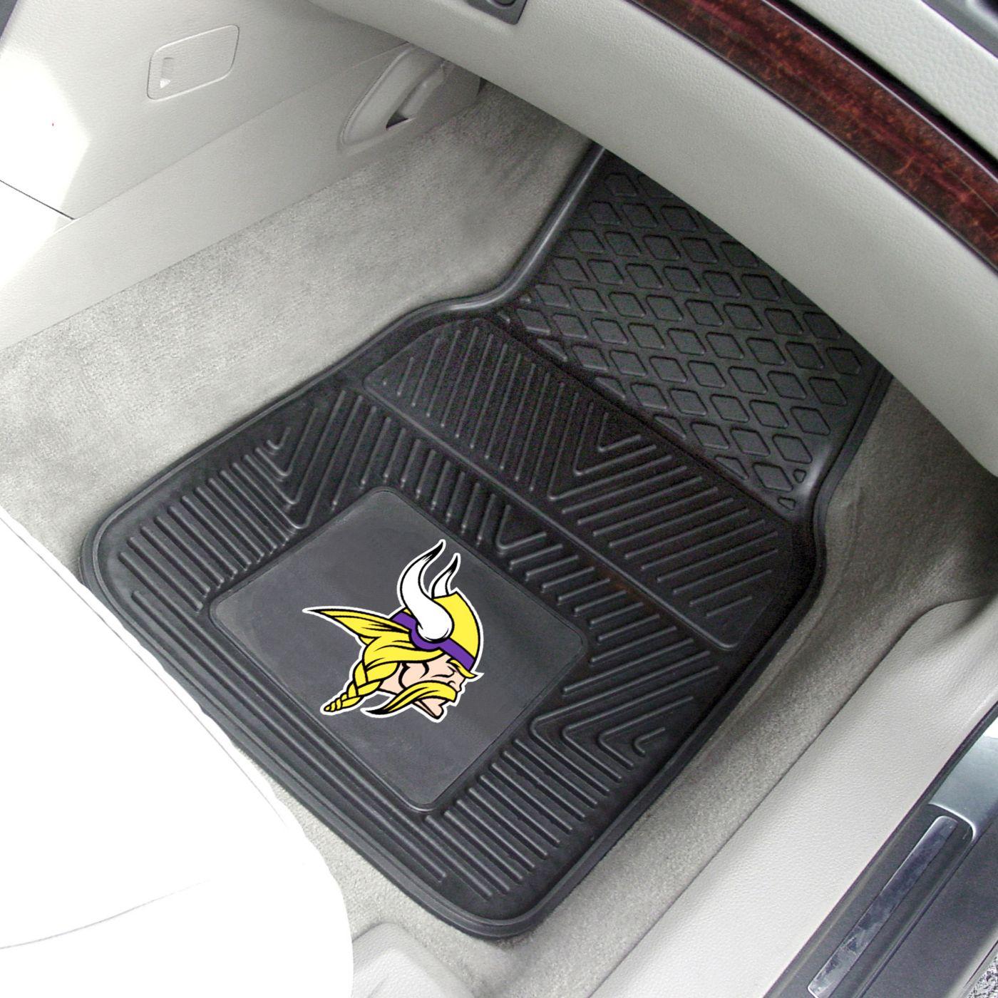 FANMATS Minnesota Vikings 2-Piece Heavy Duty Vinyl Car Mat Set