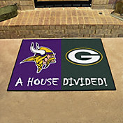 FANMATS Minnesota Vikings-Green Bay Packers House Divided Mat