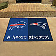 New England Patriots-Buffalo Bills House Divided Mat
