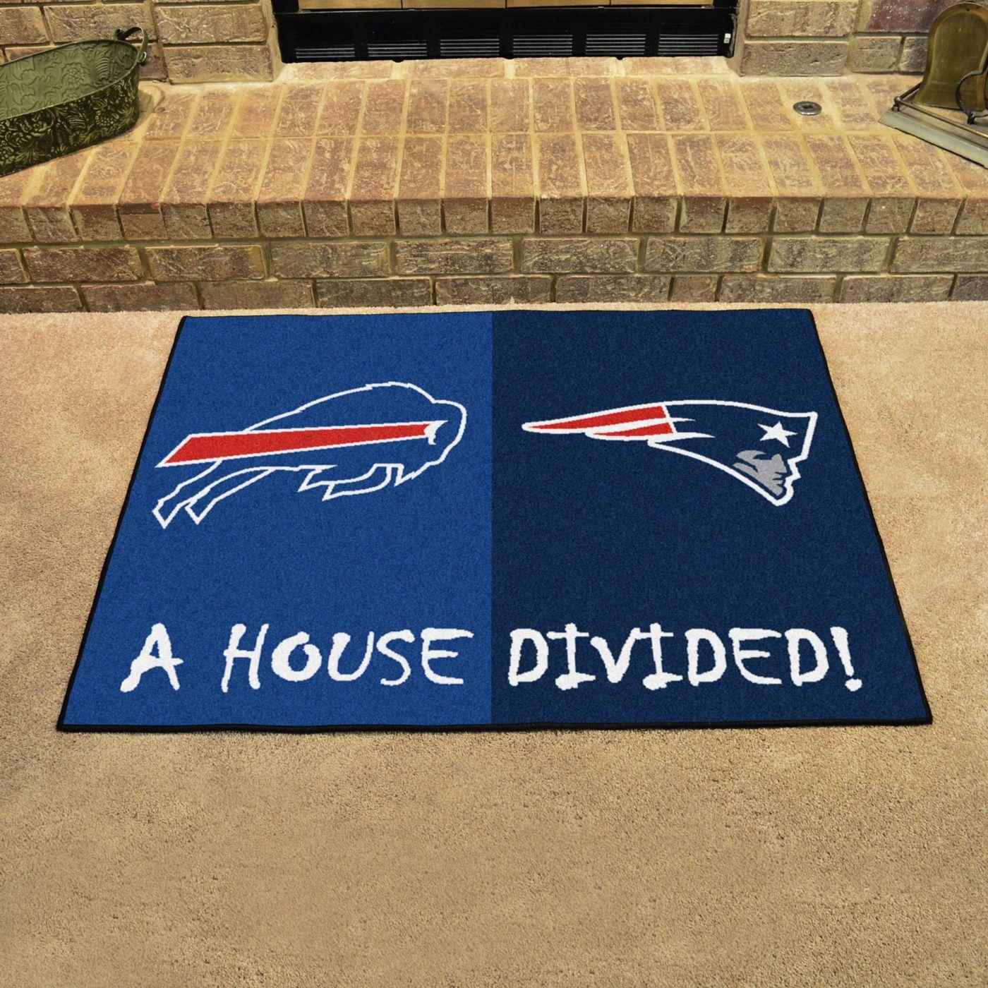 New England Patriots-Buffalo Bills House Divided Mat