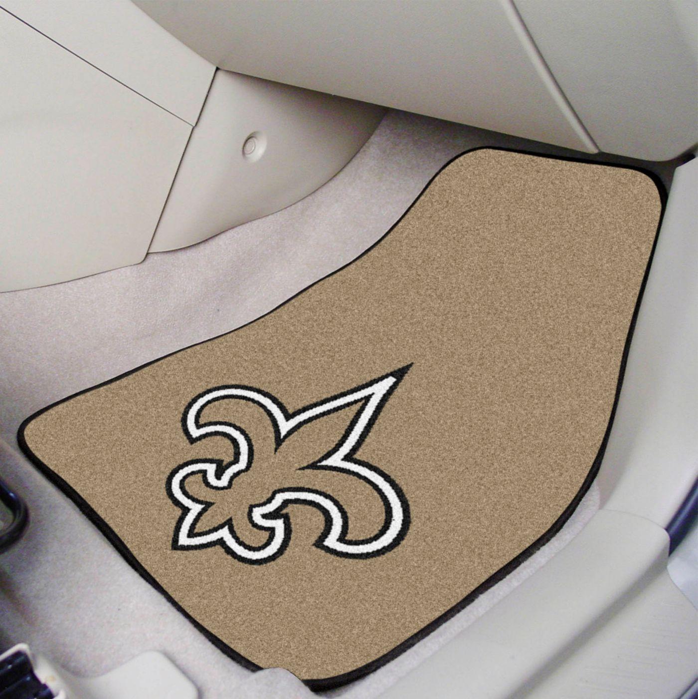 New Orleans Saints 2-Piece Printed Carpet Car Mat Set