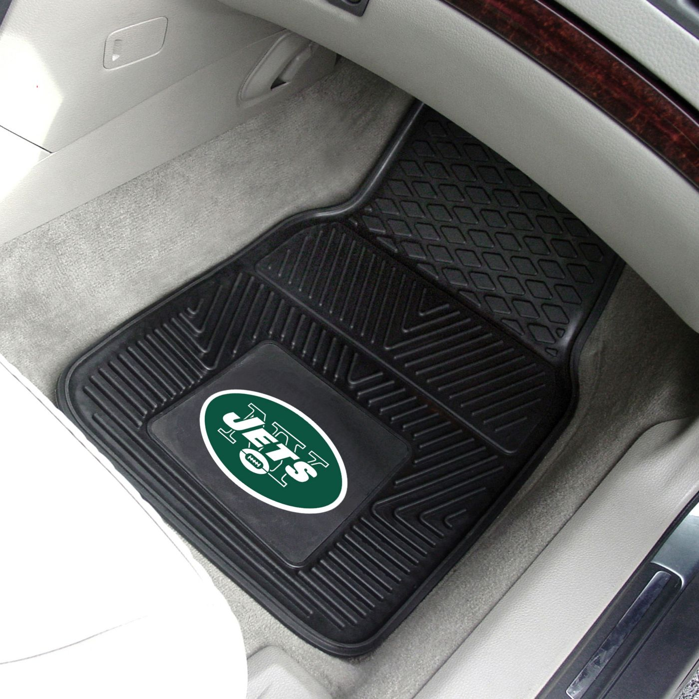 New York Jets 2-Piece Heavy Duty Vinyl Car Mat Set