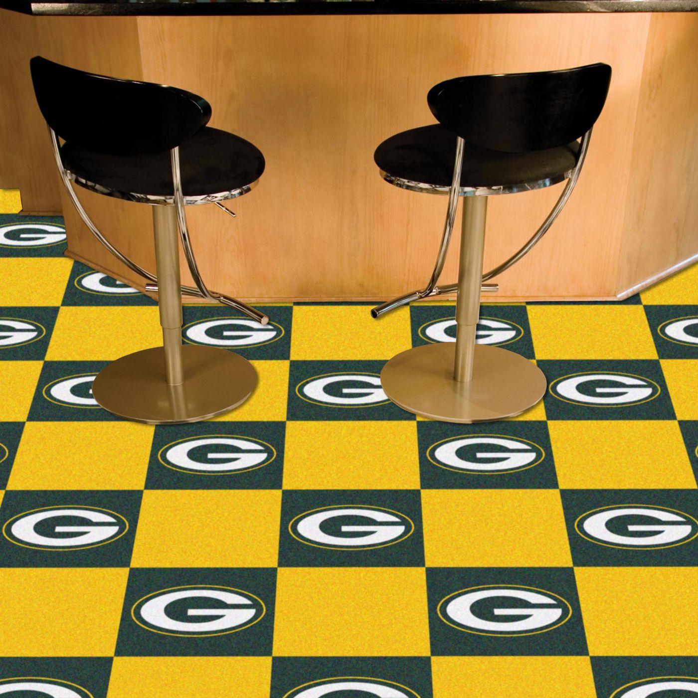 FANMATS Green Bay Packers Team Carpet Tiles