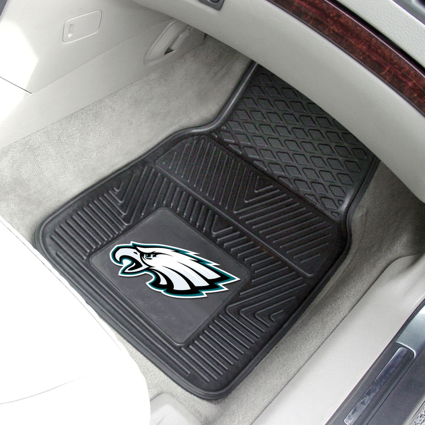 FANMATS Philadelphia Eagles 2-Piece Heavy Duty Vinyl Car Mat Set