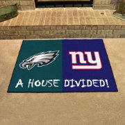 FANMATS Philadelphia Eagles-New York Giants House Divided Mat