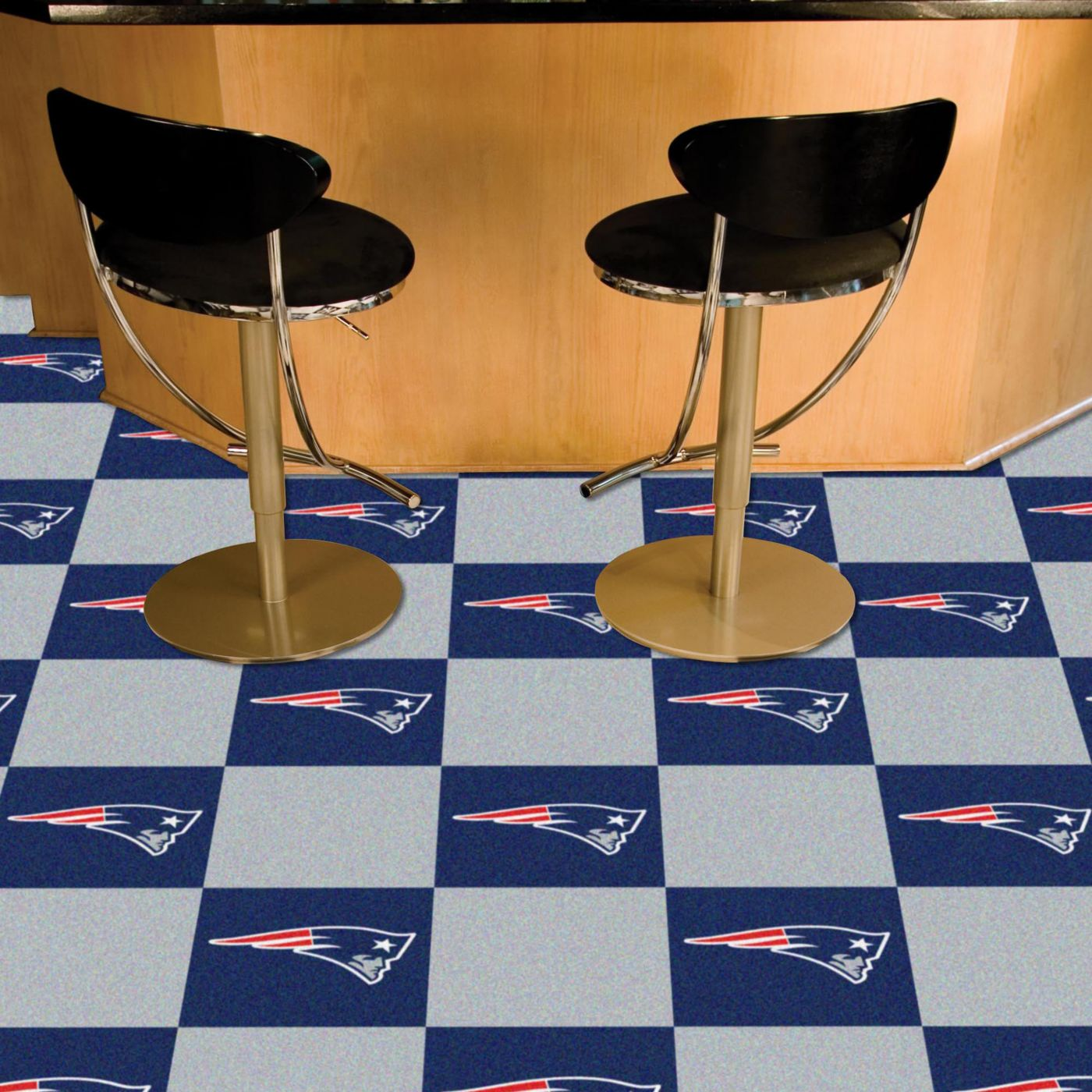 FANMATS New England Patriots Team Carpet Tiles