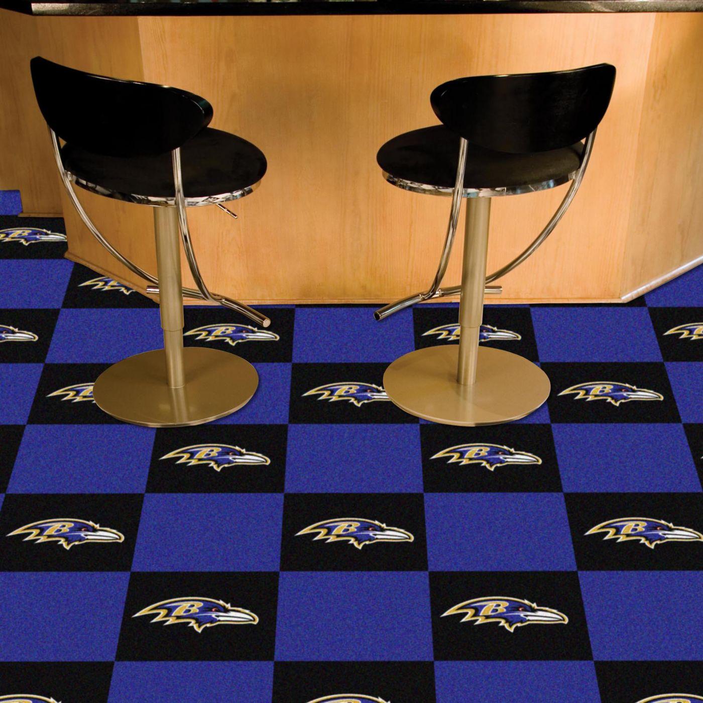 FANMATS Baltimore Ravens Team Carpet Tiles