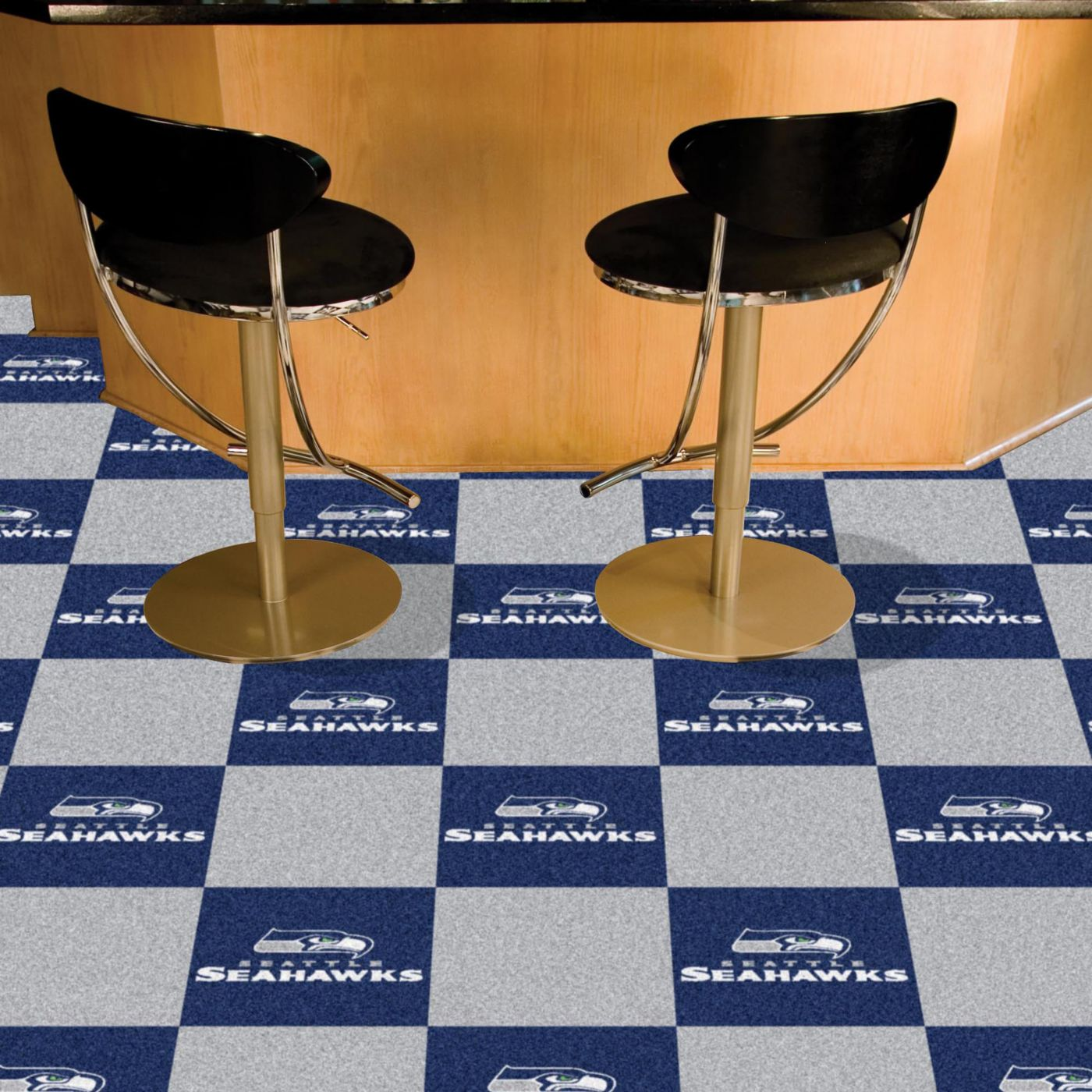 FANMATS Seattle Seahawks Team Carpet Tiles