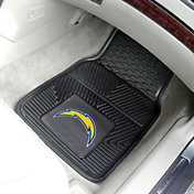 FANMATS Los Angeles Chargers 2-Piece Heavy Duty Vinyl Car Mat Set
