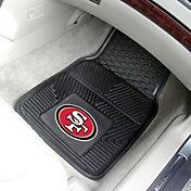 product image san francisco 49ers 2 piece heavy duty vinyl car mat set