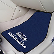 FANMATS Seattle Seahawks 2-Piece Printed Carpet Car Mat Set