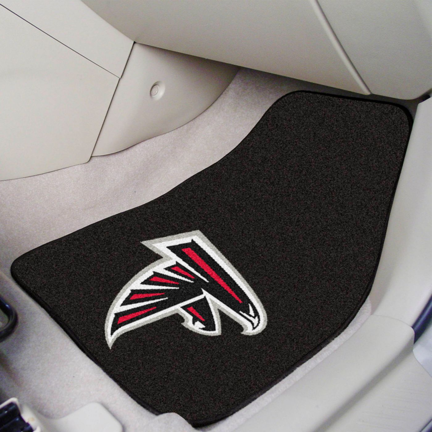 FANMATS Atlanta Falcons 2-Piece Printed Carpet Car Mat Set