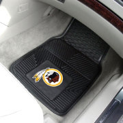 FANMATS Washington Redskins 2-Piece Heavy Duty Vinyl Car Mat Set