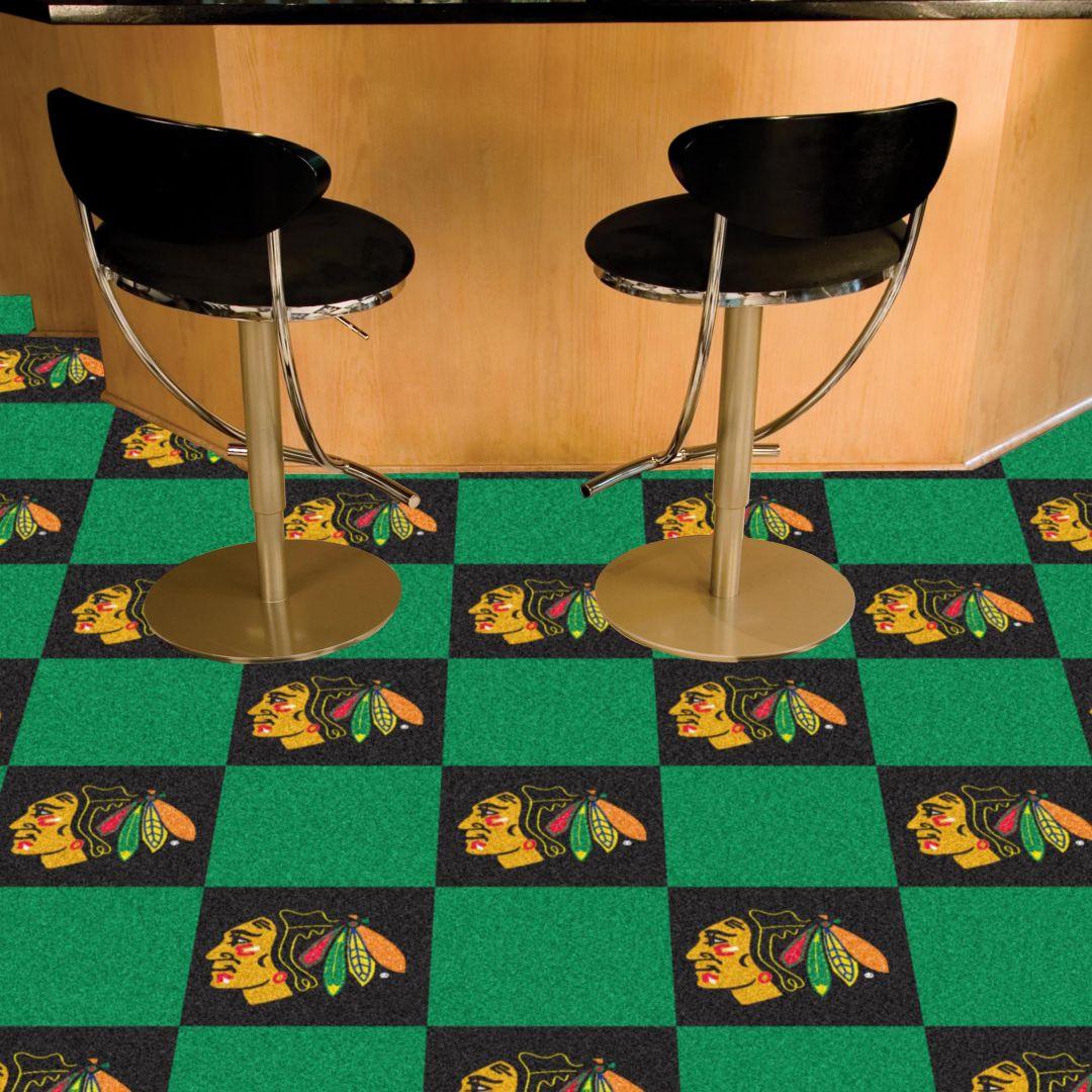 Awesome Fanmats Chicago Blackhawks Carpet Tiles Dailytribune Chair Design For Home Dailytribuneorg