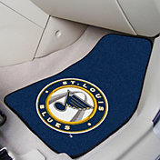 FANMATS St. Louis Blues Two Piece Printed Carpet Car Mat Set