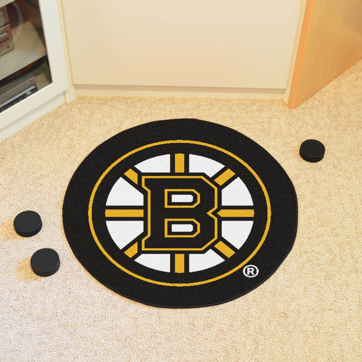 FANMATS Boston Bruins Puck Mat