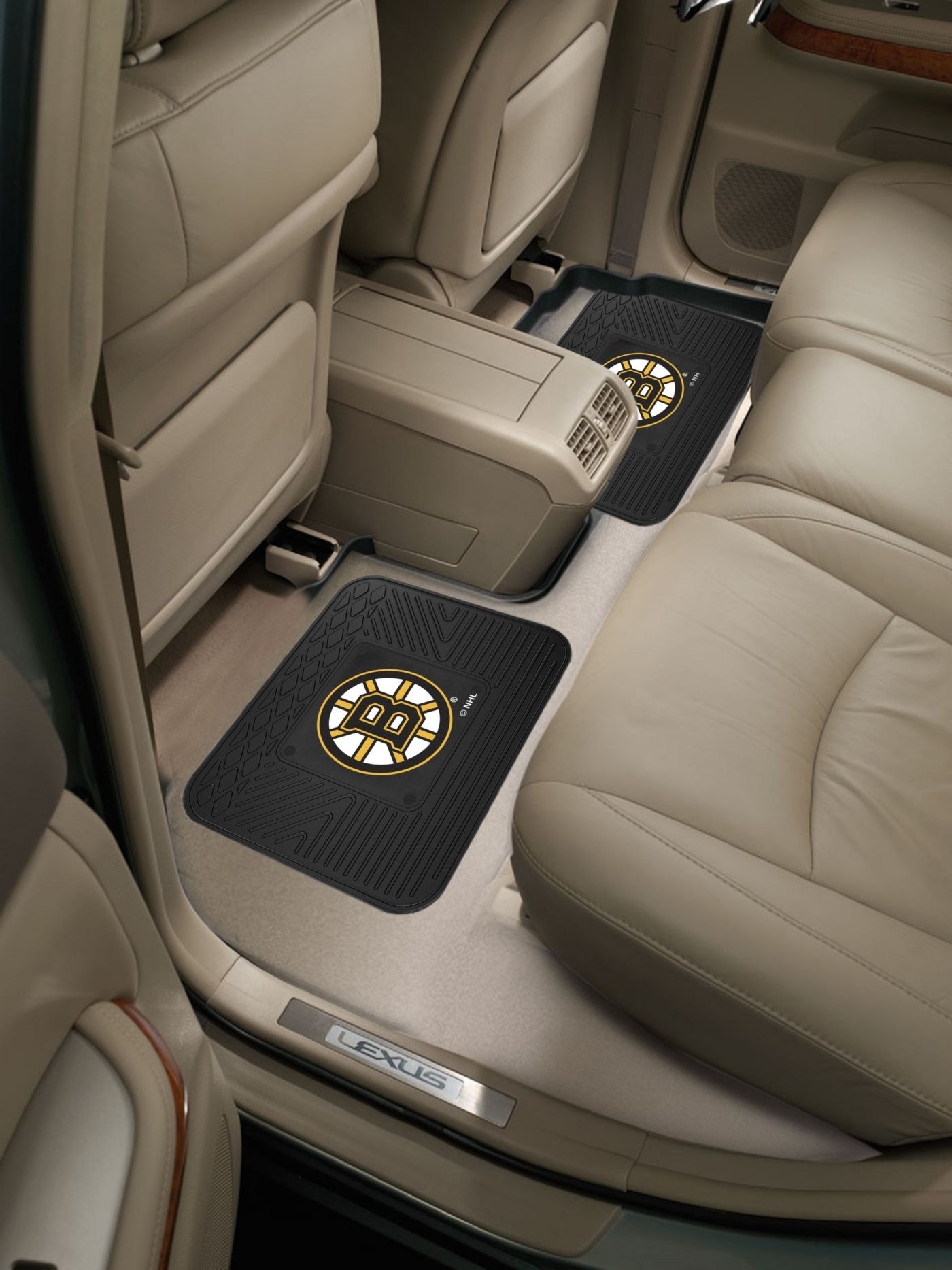 Boston Bruins Two Pack Backseat Utility Mats