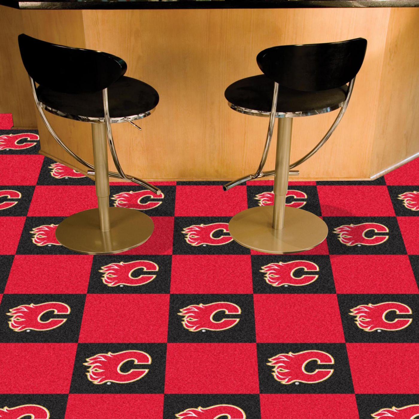 FANMATS Calgary Flames Carpet Tiles