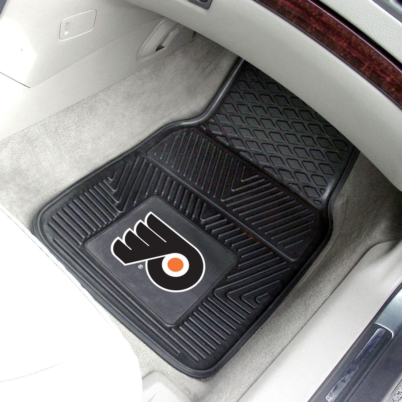 FANMATS Philadelphia Flyers Two Piece Heavy Duty Vinyl Car Mat Set