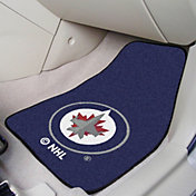 FANMATS Winnipeg Jets Two Piece Printed Carpet Car Mat Set