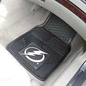 FANMATS Tampa Bay Lightning Two Piece Heavy Duty Vinyl Car Mat Set
