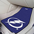 Tampa Bay Lightning Two Piece Printed Carpet Car Mat Set
