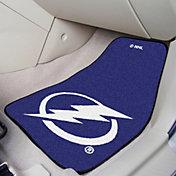 Tampa Bay Lightning Two Piece Printed Carpet Car Mat Set