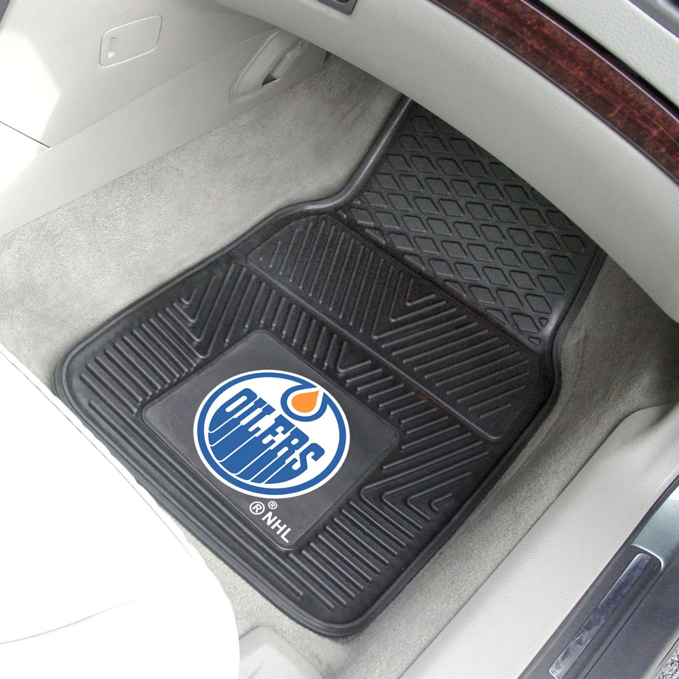 FANMATS Edmonton Oilers Two Piece Heavy Duty Vinyl Car Mat Set