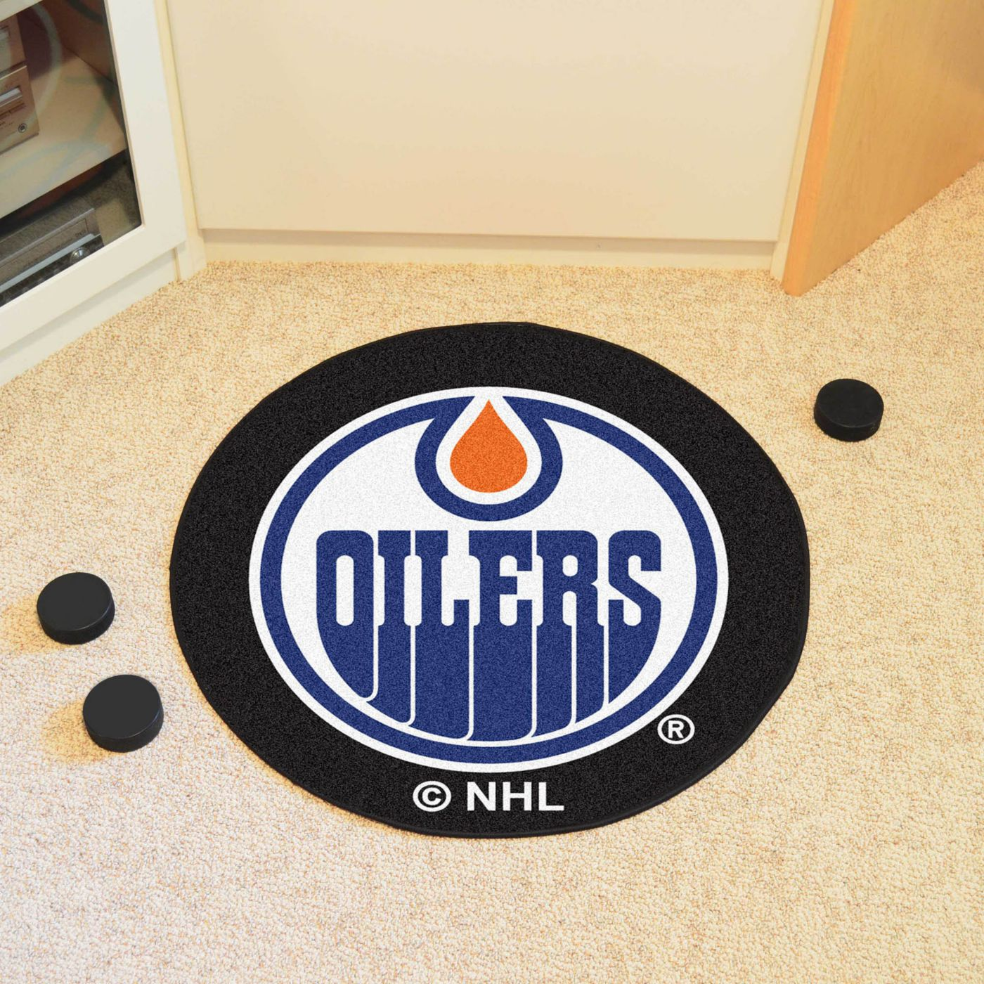 FANMATS Edmonton Oilers Puck Mat