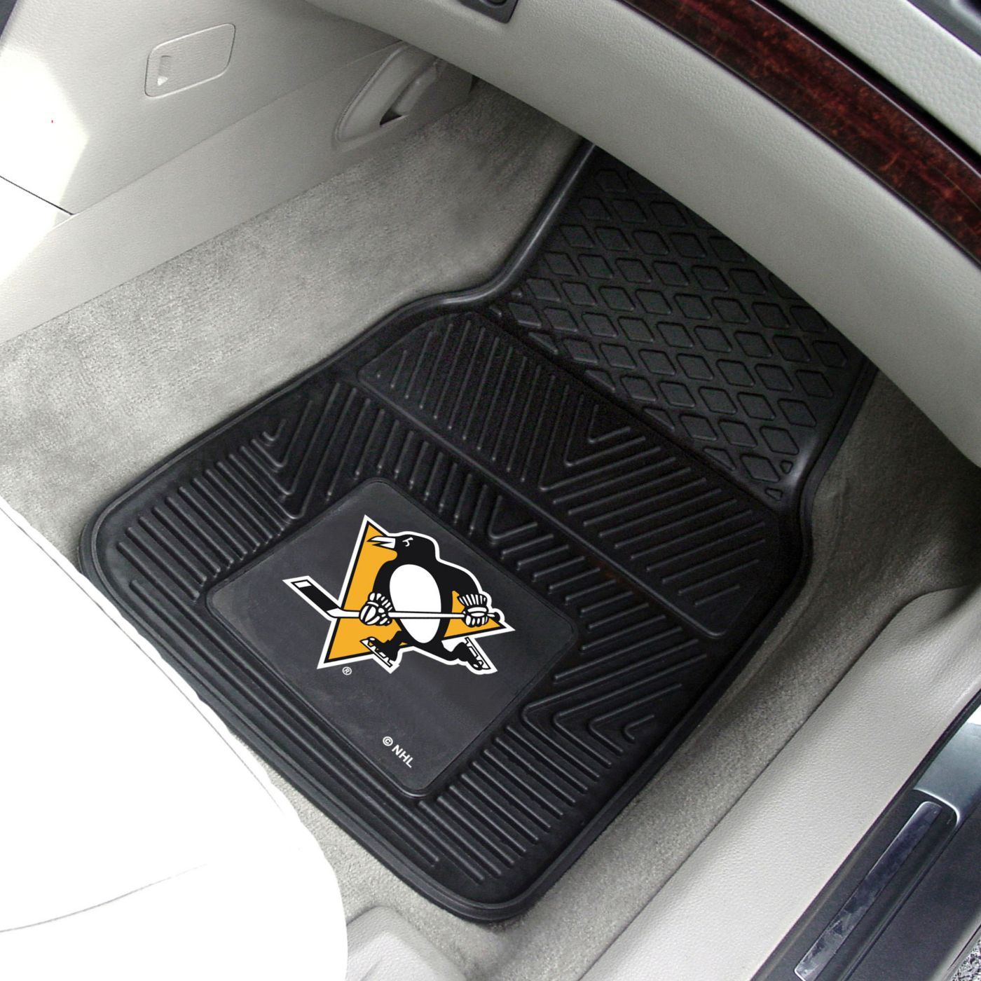 FANMATS Pittsburgh Penguins Two Piece Heavy Duty Vinyl Car Mat Set