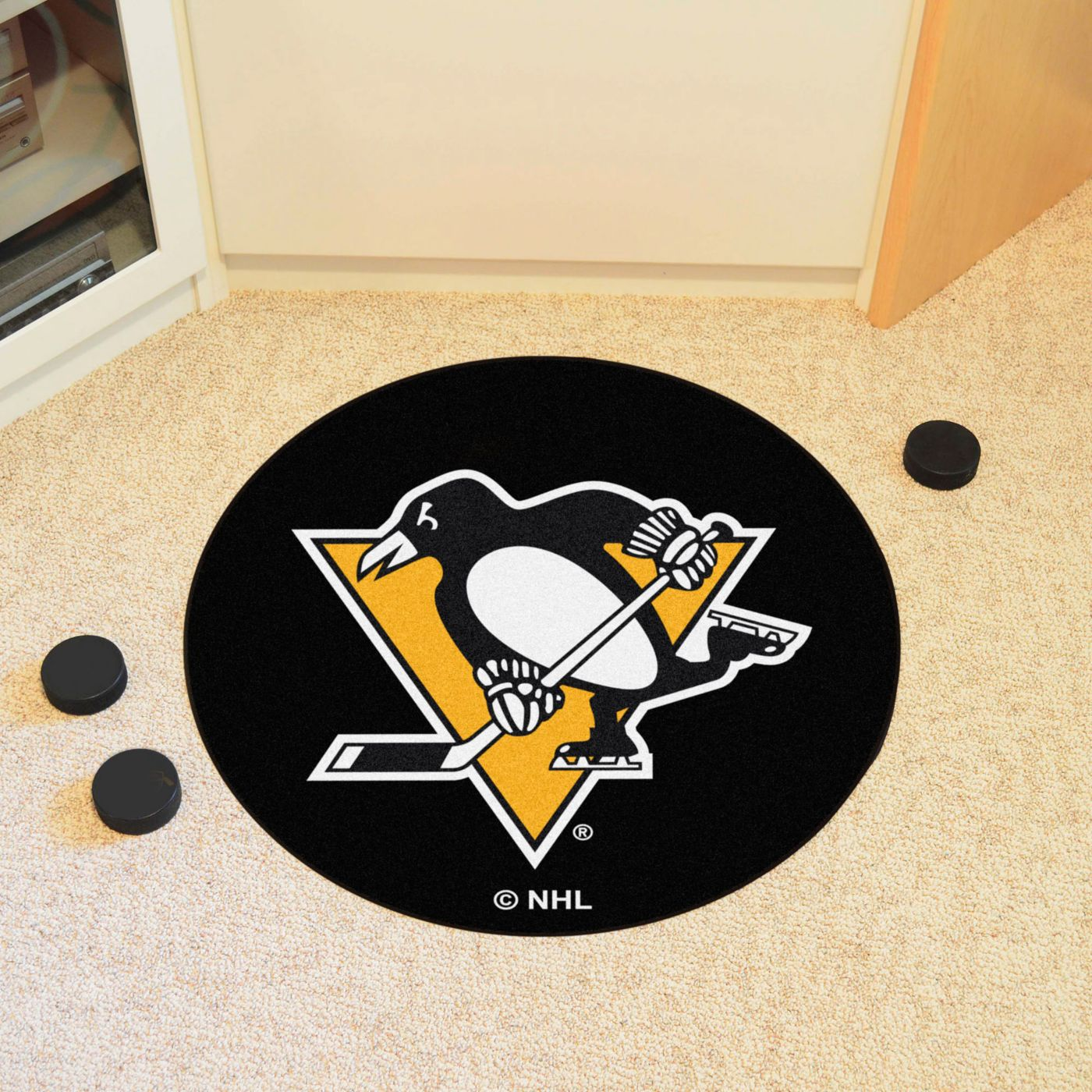 FANMATS Pittsburgh Penguins Puck Mat