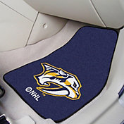 Nashville Predators Two Piece Printed Carpet Car Mat Set