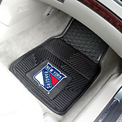 New York Rangers Two Piece Heavy Duty Vinyl Car Mat Set