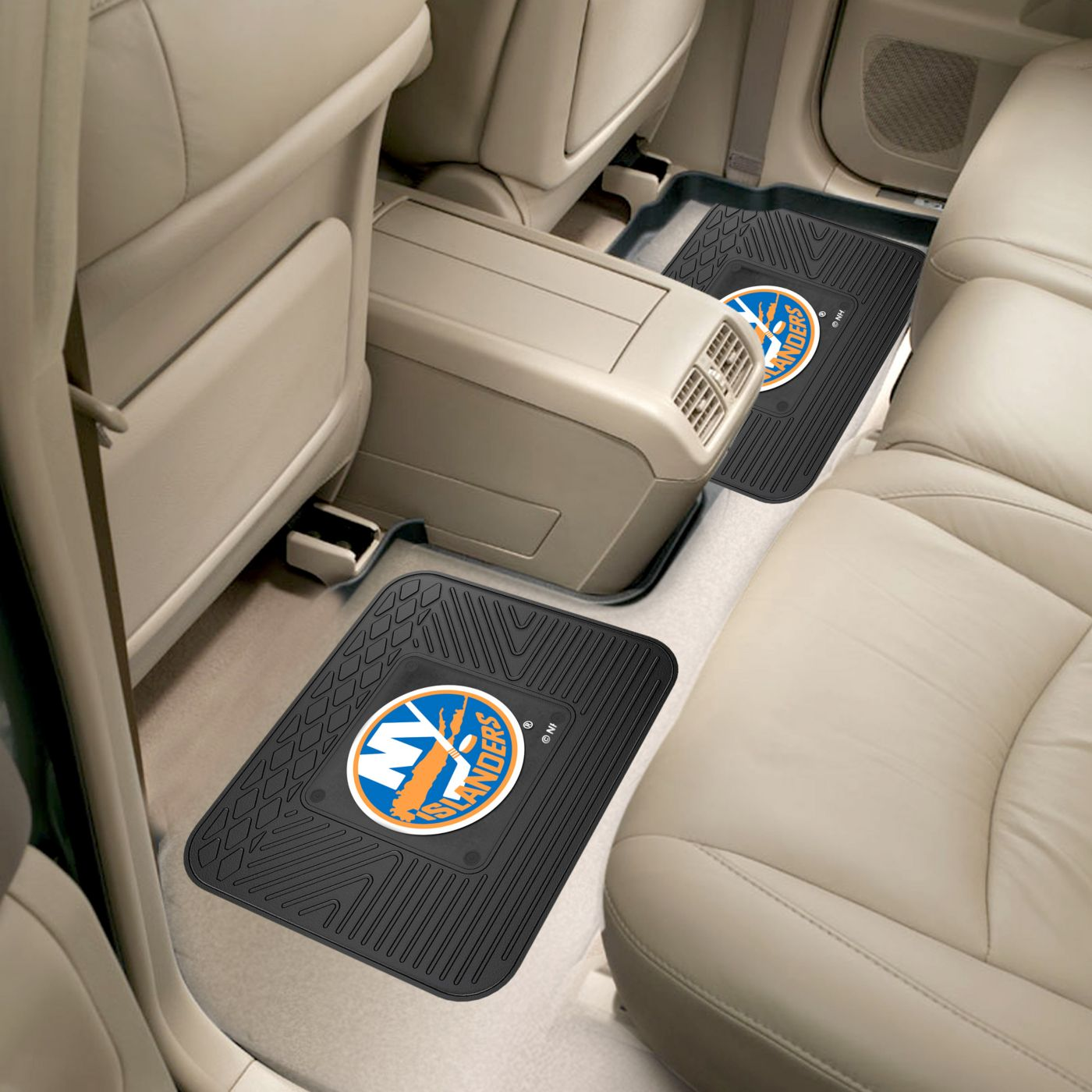 New York Islanders Two Pack Backseat Utility Mats