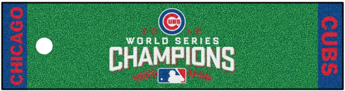 FANMATS Chicago Cubs Putting Mat - 2016 World Series Champions Edition