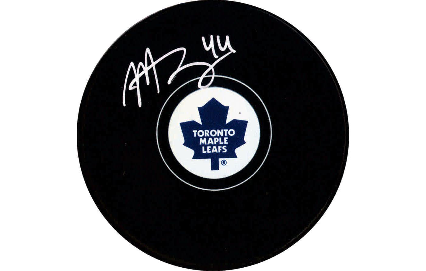 Frameworth Toronto Maple Leafs Morgan Rielly Signed Puck